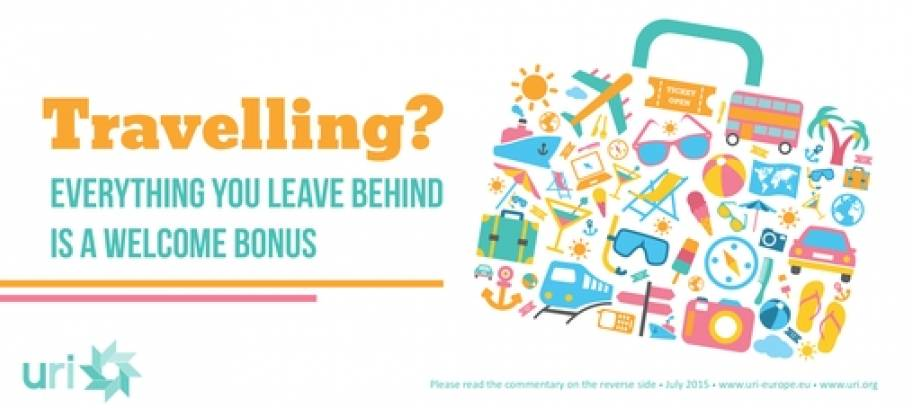 Travelling? Everything you leave behind is a welcome bonus - URI Europe Proverb for July